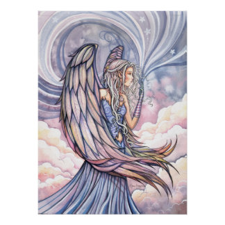 Beautiful Angel Poster Print by Molly Harrison