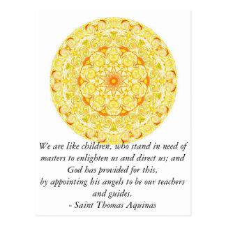 Beautiful ANGEL quote by Saint Thomas Aquinas Postcard