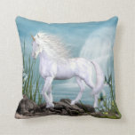 Beautiful Angel White Beauty Unicorn Pillow