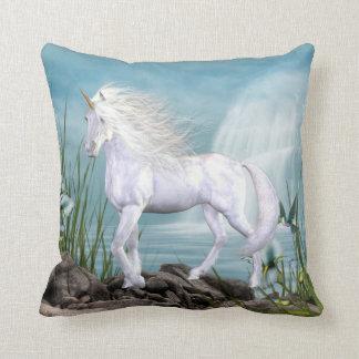 Beautiful Angel White Beauty Unicorn Pillow