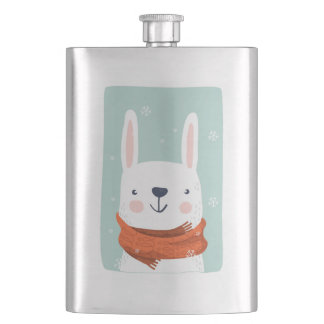 beautiful animals with winter clothes 001 flask