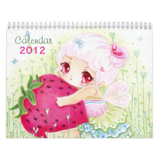 Beautiful anime chibi girls Calendar 2012 calendar