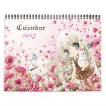 Beautiful anime chibi girls Calendar 2013