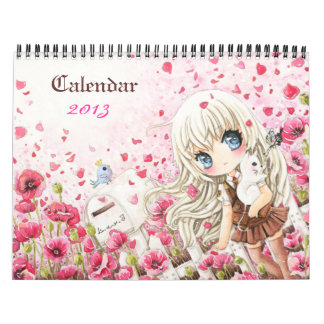 Beautiful anime chibi girls Calendar 2013