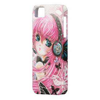 Beautiful anime girl with butterflies iPhone 5 case