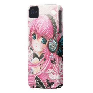 Beautiful anime girl with butterflies iPhone 4 covers