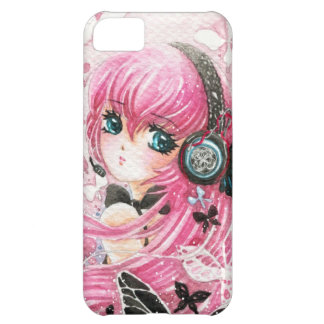 Beautiful anime girl with butterflies iPhone 5C cases