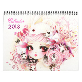 Beautiful anime girls Calendar 2013