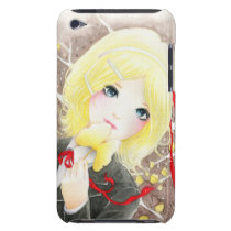 Beautiful anime schoolgirl with red ribbon iPod touch Case-Mate case