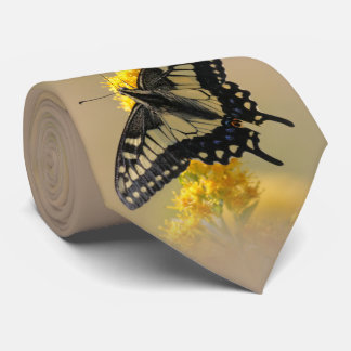 Beautiful Anise Swallowtail Butterfly in the Sun Neck Tie