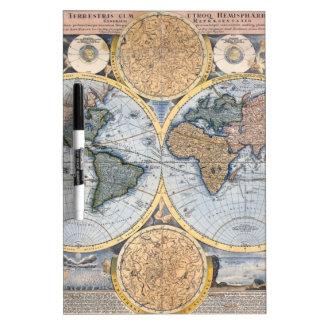 Beautiful Antique Atlas Map Dry Erase Board