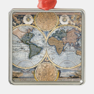 Beautiful Antique Atlas Map Ornaments