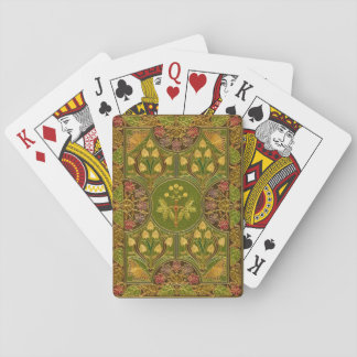 Beautiful Antique Book Cover Design Playing Cards