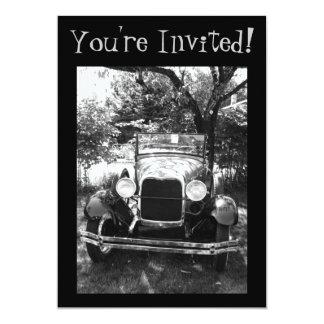 Beautiful Antique Car Photo Invite