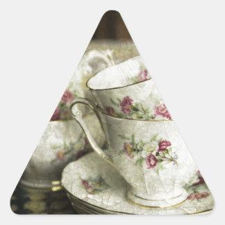 beautiful antique china cups triangle sticker