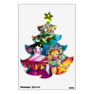 Vintage Christmas Tree Wall Decals & Wall Stickers | Zazzle