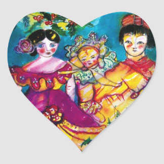 BEAUTIFUL ANTIQUE DOLLS, Heart Heart Sticker