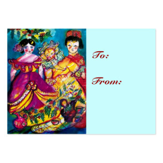BEAUTIFUL ANTIQUE DOLLS LARGE BUSINESS CARD
