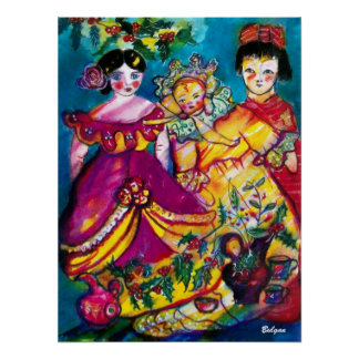 BEAUTIFUL ANTIQUE DOLLS POSTER