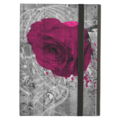 Beautiful Antique Hot Pink Rose Paint Splatter Cover For Ipad Air at Zazzle