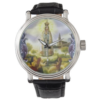 Beautiful Antique image of the apparition Our Lady Wristwatches