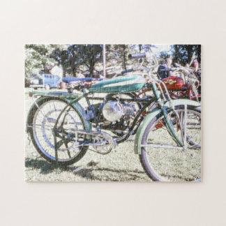 Beautiful Antique Motorized Bicycle Jigsaw Puzzle