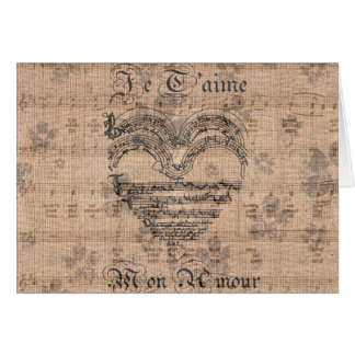 Beautiful antique music notes heart