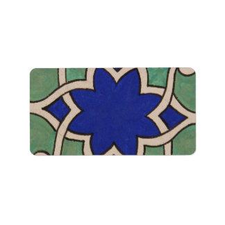 Beautiful Antque Vintage Ottoman tile Label