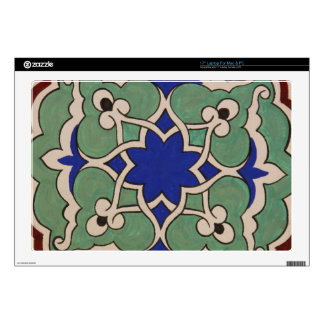 "Beautiful Antque Vintage Ottoman tile Skin For 17"" Laptop"