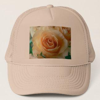 Beautiful Apricot  Rose Trucker Hat