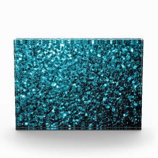 Beautiful Aqua blue glitter sparkles Award