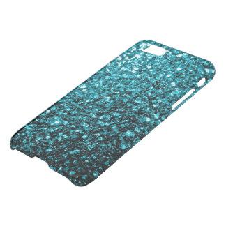 Beautiful Aqua blue glitter sparkles iPhone 7 Case