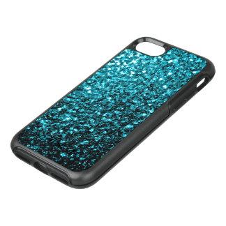 Beautiful Aqua blue glitter sparkles OtterBox Symmetry iPhone 8/7 Case