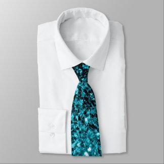 Beautiful Aqua blue glitter sparkles Tie