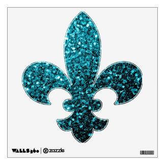 Beautiful Aqua blue glitter sparkles Wall Graphics