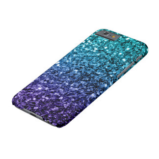 Beautiful Aqua blue Ombre glitter sparkles Barely There iPhone 6 Case