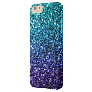 Beautiful Aqua blue Ombre glitter sparkles Barely There iPhone 6 Plus Case