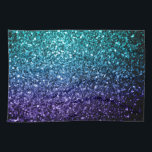 "Beautiful Aqua blue Ombre glitter sparkles Hand Towel<br><div class=""desc"">Beautiful girly glamorous dark and light blue shiny glitters sparkles. Photo of cyan and dark blue sparkles not actual glitter!</div>"