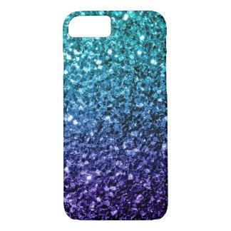 Beautiful Aqua blue Ombre glitter sparkles iPhone 7 Case