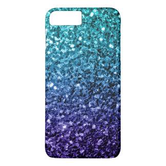 Beautiful Aqua blue Ombre glitter sparkles iPhone 7 Plus Case