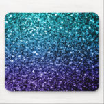 "Beautiful Aqua blue Ombre glitter sparkles Mouse Pad<br><div class=""desc"">Beautiful girly glamorous dark and light blue shiny glitters sparkles. Photo of cyan and dark blue sparkles not actual glitter!</div>"
