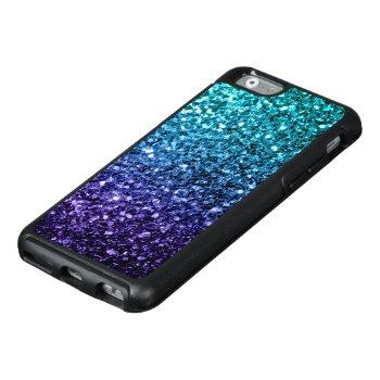 Beautiful Aqua Blue Ombre Glitter Sparkles Otterbox Iphone 6/6s Case by PLdesign at Zazzle