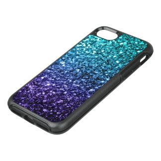 Beautiful Aqua blue Ombre glitter sparkles OtterBox Symmetry iPhone 7 Case