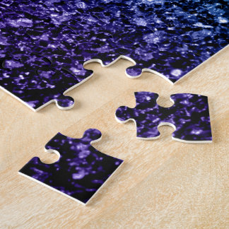 Beautiful Aqua blue Ombre glitter sparkles Puzzle