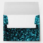 Beautiful Aqua blue sparkles print envelope