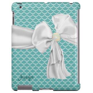 Beautiful Aqua Scalloped iPad Case