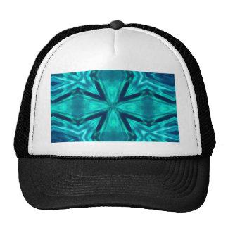 Beautiful Aquamarine Teal Blue Cross Abstract Trucker Hat