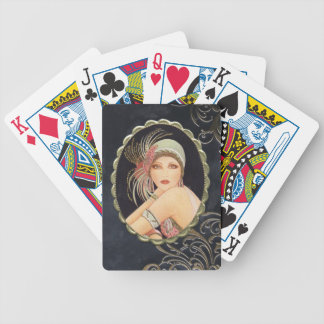 Beautiful Art Deco 1920's Women Playing Cards