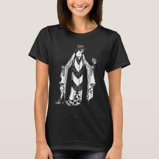 Beautiful Art Deco Lady black shirt