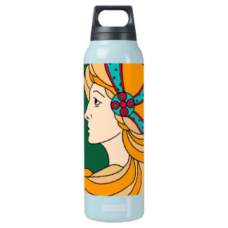 Beautiful Art Nouveau style lady detail Insulated Water Bottle